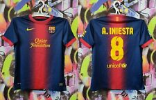Barcelona FC Andres Iniesta #8 Spain Football Shirt Soccer Jersey Youth Size L