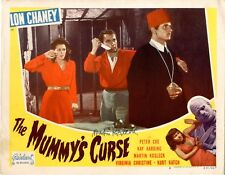 "The Mummy's Curse  Lobby Card  R-1951  FINE- 1 1/2"" tear repaired on back w ppr"