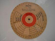 VINTAGE BASF PLAYING TIME CALCULATOR FOR REEL TO REEL RECORDING TAPE,122 MM RARE