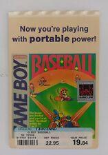 Nintendo Gameboy 1989 Mario Baseball Vidpro Promotional Shelf Display Card Rare