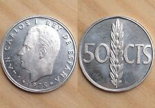 50 Centimos 1975 *76 Sin Circular S/C Leer!!!! De Cartera Proof España Spain