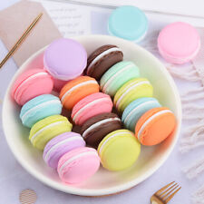 10 Pcs Simulation Miniature Macaron Flat Back Resin Cabochon Food Play Fit Phone
