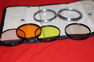 Hasselblad / 63 Filter SET Einlegefilter Gelbfilter Y  + Orange 4x 0 -2 + CR 1,5