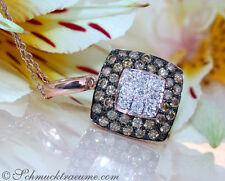 Echte Diamanten-Halsketten & -Anhänger aus Rotgold mit Brilliantschliff