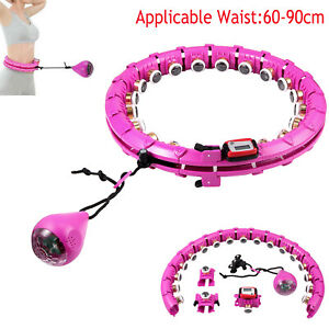 Hula Hoop Smart Detachable ABS Lose Weight Fitness Belly Fat Burning Exercise UK