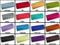 "6"" GLITTER Sparkle Quality TULLE Roll 25 YARDS Choose Color"