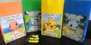 Personalised Pokemon Party Bags with Personalised 3D Keyrings
