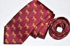 Men's Ben Silver Red Silk Neck Tie