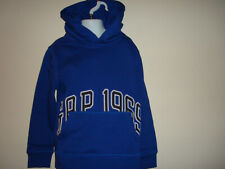 BOYS GAP LONG SLEEVE,  RAISED LOGO POPOVER  HOODIE SIZE  XS /4/5/ NWT