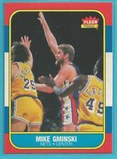 1986 Fleer #38 Mike Gminski - Nice Card!! (CF004)