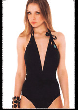 Despi Swimsuit Full Piece NEW w Tag BLACK Size XS (6) Glam Beads