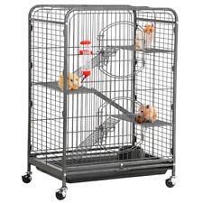 Metal Ferret Cage for Large Rat Guinea Pig Chinchilla Sugar Glider Rabbits Black