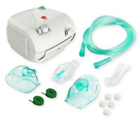 NEW Compact Nebulizr Compressor Machine System w/ Adult and Child Mask Kits