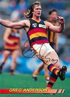 ✺Signed✺ 1994 ADELAIDE CROWS AFL Card GREG ANDERSON