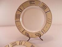 "Set of 2 Jumana Dinner Plates Oneida Majesticware Geometric 10.5"""