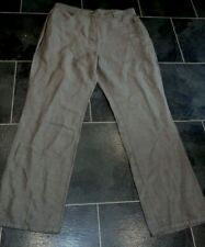 Ladies Marks & Spencer nutmeg brown 53% linen 47% cotton Trousers Size 14