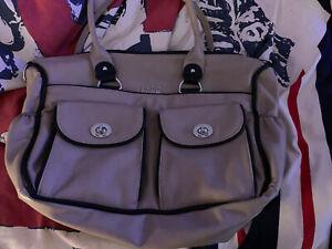 💕Kate Hill Katehill Brand New Extra Large Tan Shoulder Bag Handbag💕 With Strap