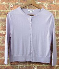 L. K. Bennet London sz L Merino Wool Cardigan $150 C D Bonnie Heather Lavender
