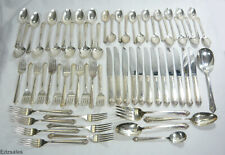 64 Pcs Roger Bros Starlight Silverplate Flatware Silverware International Silver