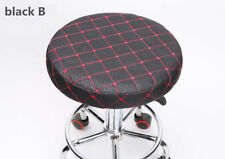"10Pcs 14"" Bar Stool Cover Round Chair Seat Cover Cushions Sleeve Black&Red"
