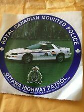 Ottawa Canada Highway Patrol RCMP decal