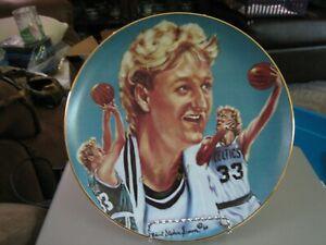 "1987 Sports Impressions Signed Larry Bird ""33"" Large Collector Plate #535/2000"
