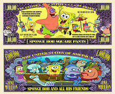 SpongeBob SquarePants Million Dollar Bill Collectible Funny Money Novelty Note