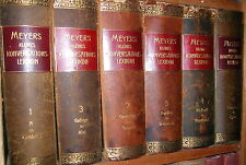 LEXIKON MEYERS KLEINES KONVERSATIONSLEXIKON 1908 ff 6 Bände a-z komplett 15 kg