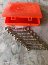 Vintage Oxwall Tools Ignition Wrenches Set of 8 Mint Condition w/box