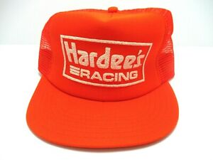 NEW VINTAGE HARDEES RACING HAT Cale Yarborough. 1980's Made in America!