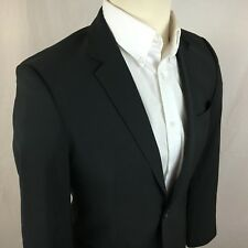 $795 Recent HUGO BOSS Men's 38R Sport Coat Huge Genius Black 2 Button Crosshatch