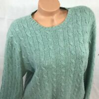 Polo by Ralph Lauren 100% Cashmere Sweater Womens Large Cable Knit LG