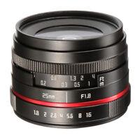 25mm f/1.8 Prime Lens Manual Focus MF Fr Panasonic Olympus MFT M4/3 Mount Camera