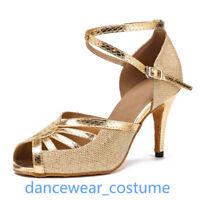 Ladies Dance Salsa Shoes Women Party Ballroom Latin Tango Samba Heels Sandals 1P