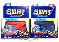 Spud Gun Retro Metal Die Cast Water Gun Potato Gun 3in1 Outdoor Play Toy - 3+