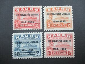 Naru Stamps: Overprint Set  Mint   - Rare   (g173)