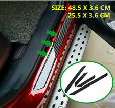 4pieces Carbon Fiber Car Door Sill Scuff Protector Stickers Trim For Mitsubishi Fits 1999 Mitsubishi Mirage