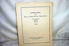 Boonton Q Meter 100A 160A 170A Manual of RF Measurements