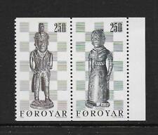1983 Faroe Islands: 19th century Chess Pieces Sg81-82 Fine Unmounted Mint (Mnh)