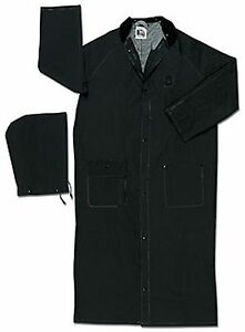 MCR Classic Plus 35 mm BLACK FR Raincoat PVC 60 inch Raincoat Sizes M-5XL