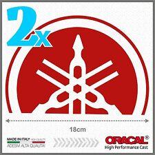 2x Red Yamaha Tmax 01-07 SMALL Diapason Scudo ADESIVI PEGATINA STICKERS