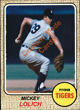 Custom made Topps 1968 Detroit Tigers Mickey Lolich baseball  card