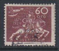 Sweden - 1924, 60 ore Anniversary of UPU stamp - F/U - SG 171