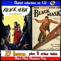 Black Mask Magazine 32 Rare Magazines, detective, crime, mystery stories
