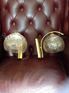 pair of retro vintage 60s 70s wall lamp wall mounted lights