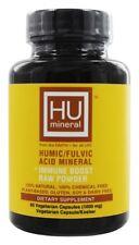 HUmineral Humic/Fulvic Acid Mineral + Immune Boost Raw Powder, 60 Veg Caps