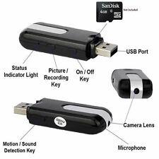 Mini USB Disk Spy Camcorder Camera Hidden DV DVR Motion Activated Detection U8