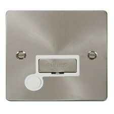 Click FPBS550WH 13A Un-switched Spur with Flex Out. Flat Plate.Brushed Steel