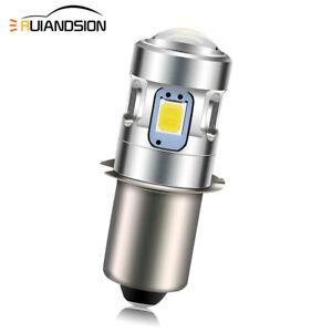 3V/4.5V/6V/10-30V P13.5S PR2 2835 4 LED Torch Flashlight Bulb White/ Warm White