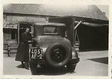 PHOTO ANCIENNE - VINTAGE SNAPSHOT - VOITURE AUTOMOBILE TACOT ROUE FEMME - CAR